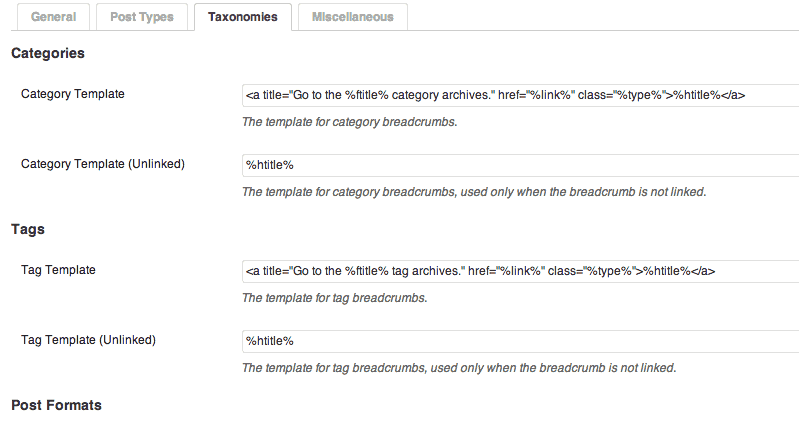 Customize your breadcrumbs on each post type or taxonomy