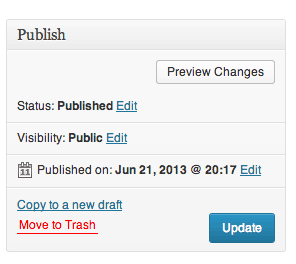 Copy to a new draft is right above the Move to Trash link