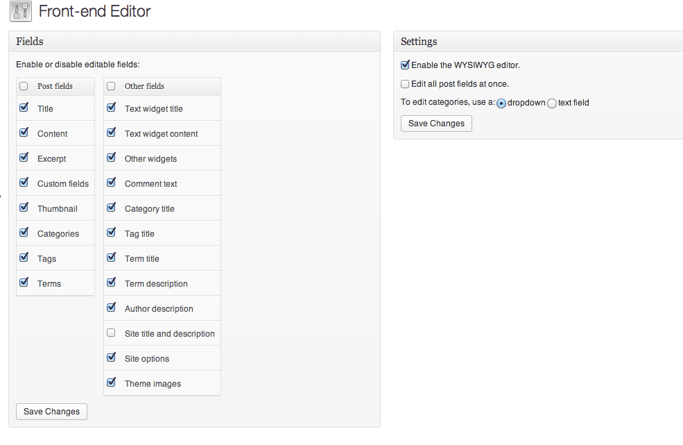 Use the Options to customize your editor