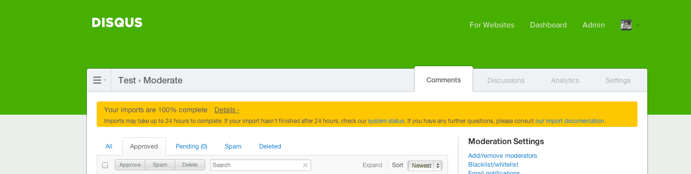 Disqus Plugin General Settings