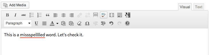 Basic spellchecking for WordPress
