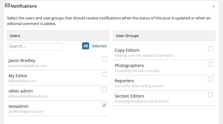 EditFlow's Notifications Settings