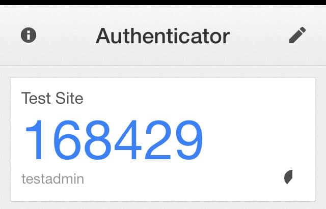 The 2-Factor Code on your Google Authenticator App