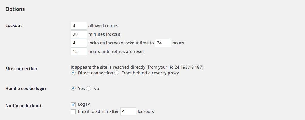Limit Login Attempts Plugin