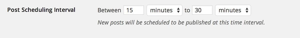 Automatic Post Scheduler plugin settings