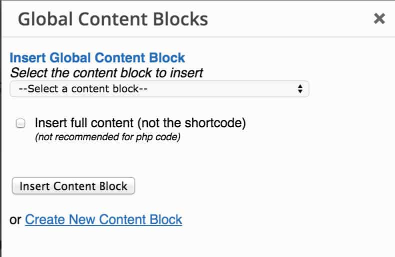 Insert a block with a button in TinyMCE