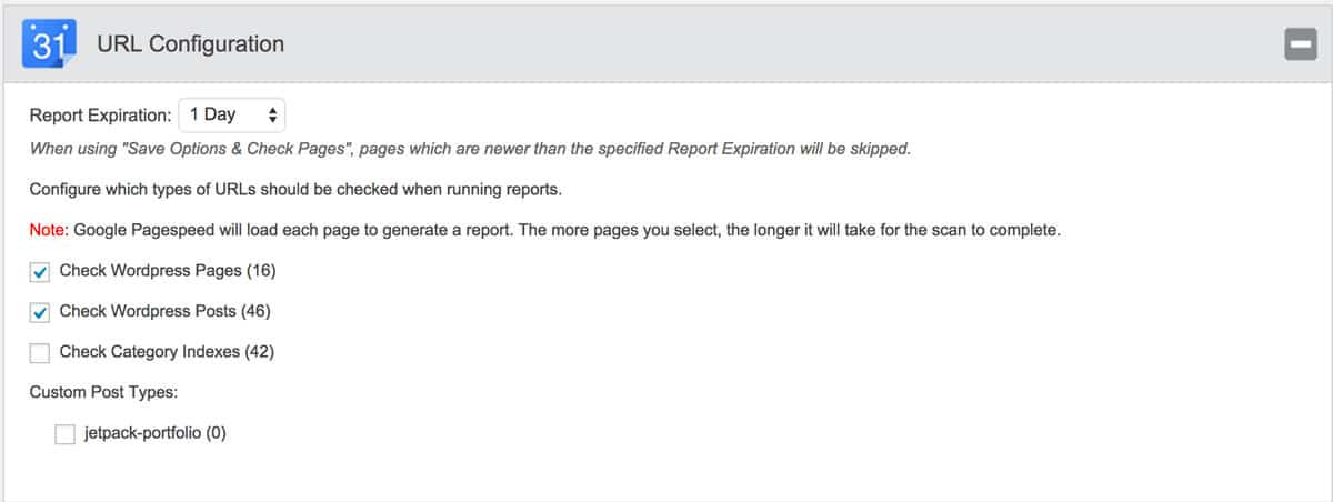 Configure what and how often to report