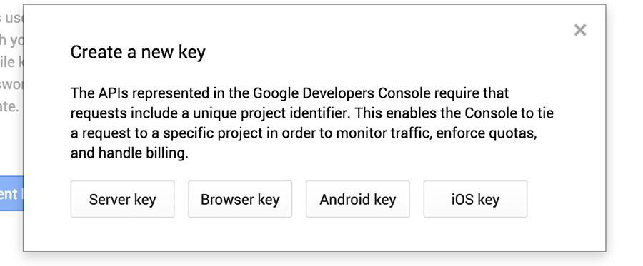 "Choose ""Browser Key"""