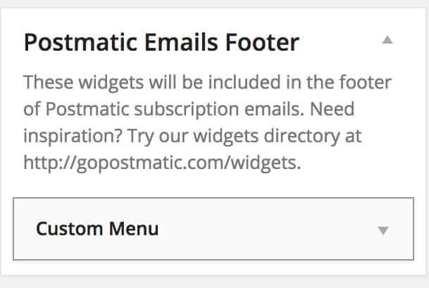 Postmatic Widget