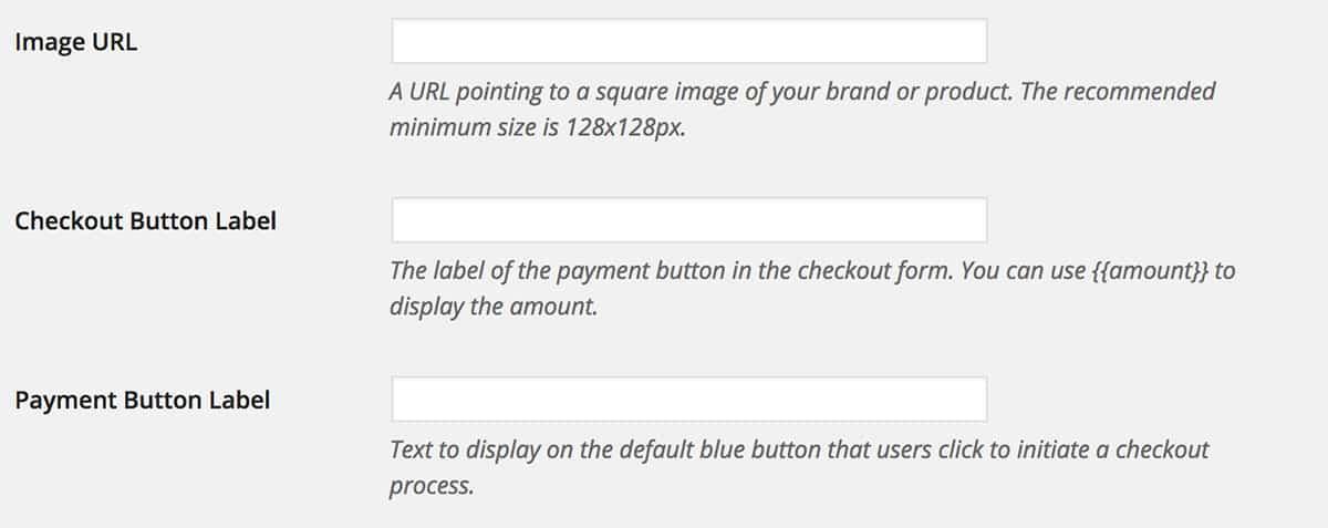 Stripe plugin basic settings