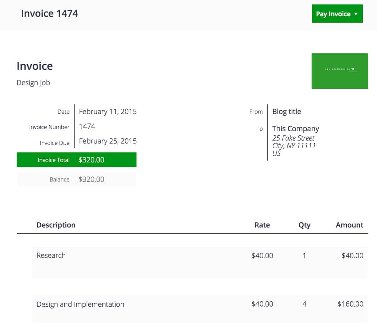 Sprout Invoices template