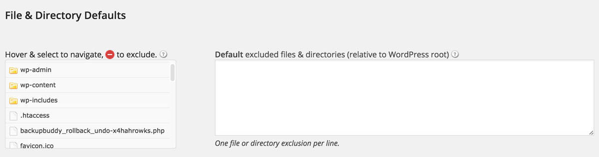 BackupBuddy File Settings
