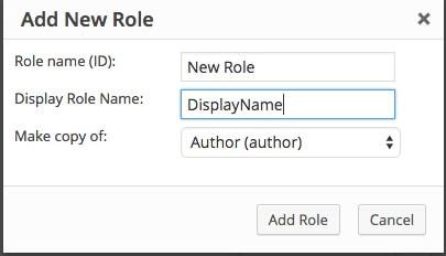Adding a new role