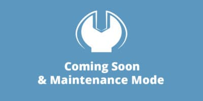 Coming Soon & Maintenance Mode PRO