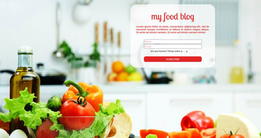 UnderConstructionPage Food Template