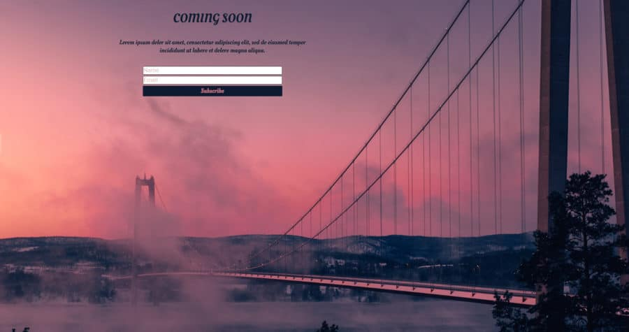 UnderConstructionPage Sunset Template