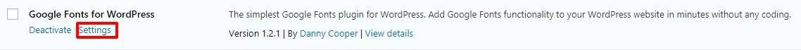 google-fonts-for-wordpress-settings