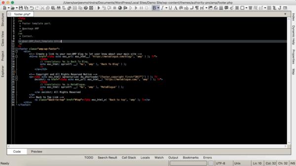 Codelobster IDE dark mode