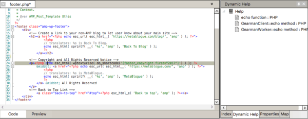 Codelobster IDE dynamic help