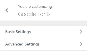 google-fonts-settings