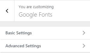google-fonts-settings