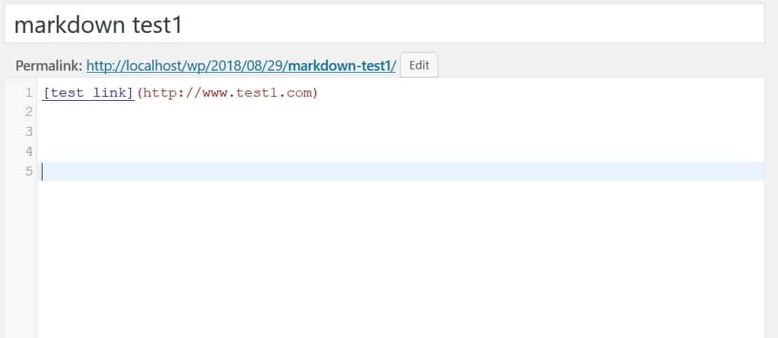 Insert links with Markdown