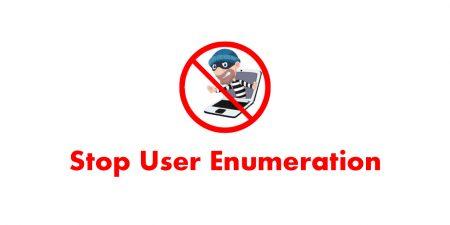 Stop User Enumeration