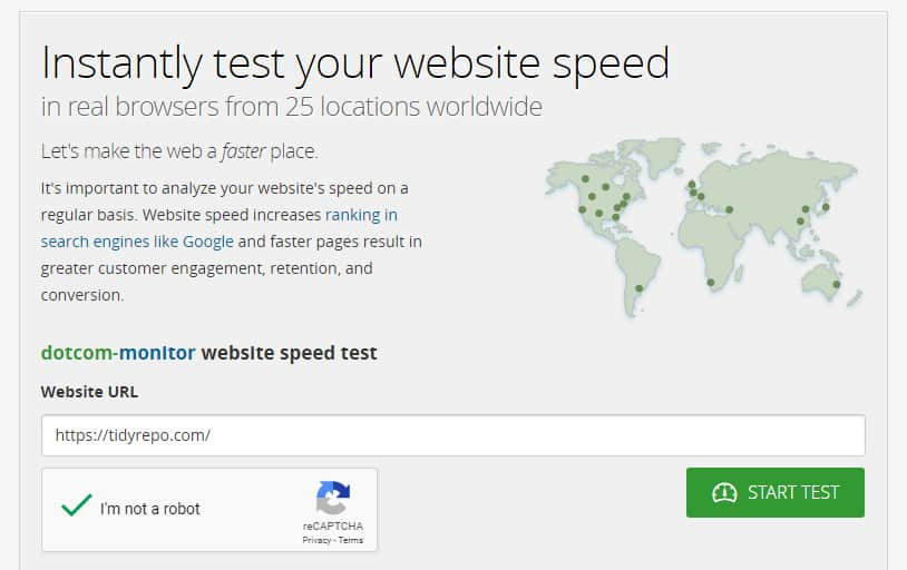 Test website speed