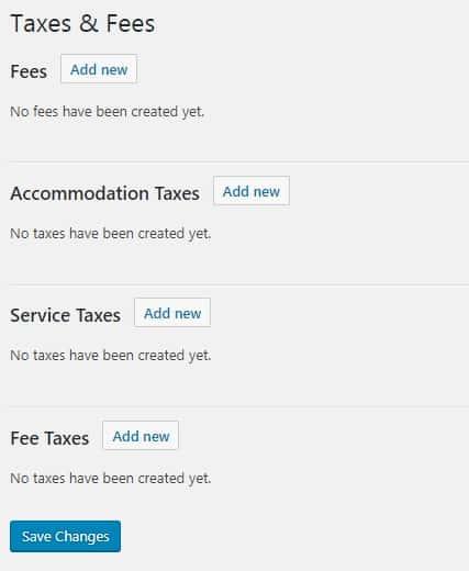 Taxes Fees