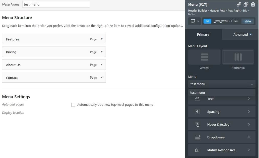 Insert you custom menus to the page simpler than ever before