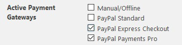 Enable extra PayPal functions