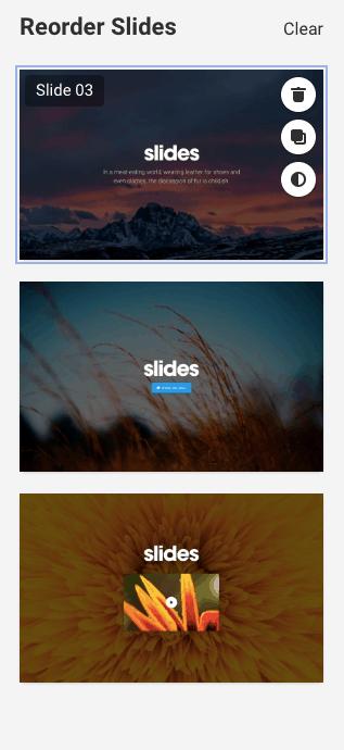 Reorder Slides