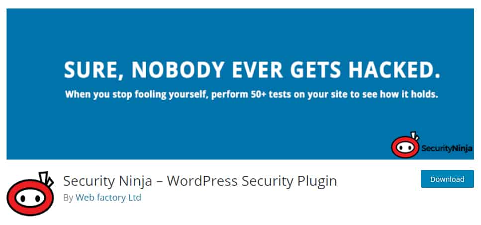 Security Ninja - Protect Your WordPress Website in a Click of the Button