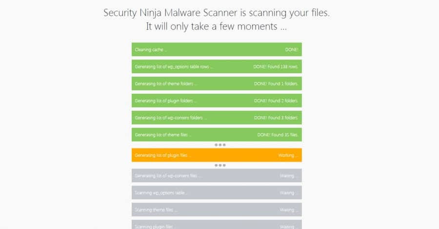 Security Ninja Core Scanner
