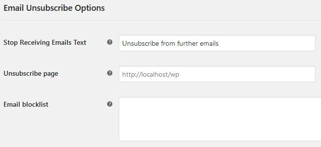 Be sure to add an unsubscribe option