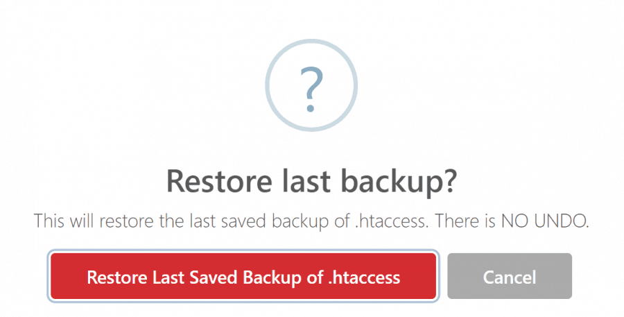 Htaccess Editor for WordPress backups