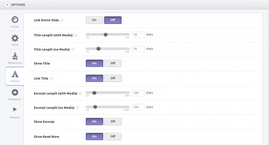 SlideDeck Options