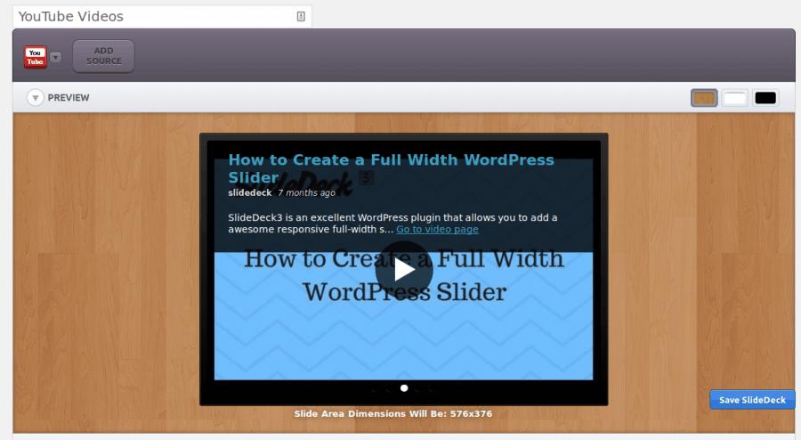 SlideDeck video