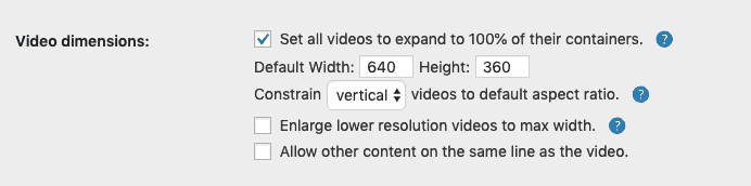 Video Dimensions