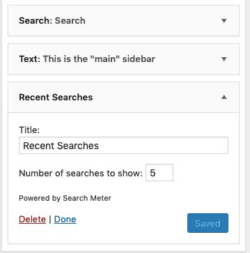 Search Widget