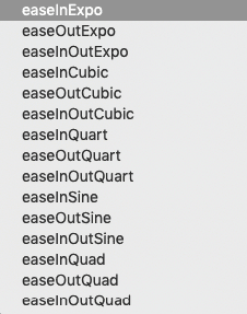 Ease in Animations 2