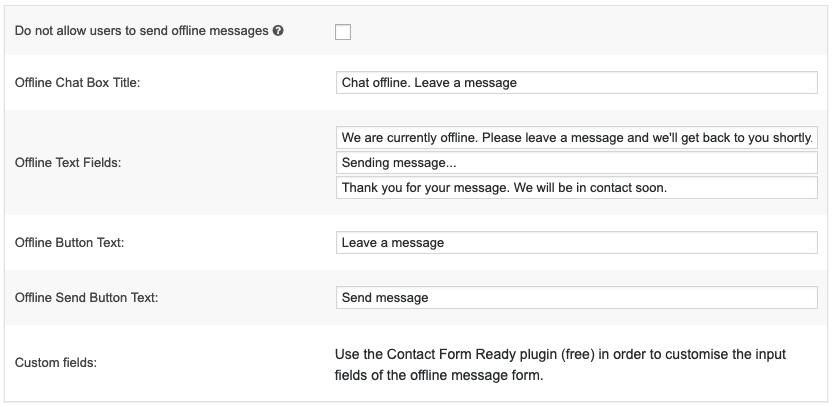 Offline messaging