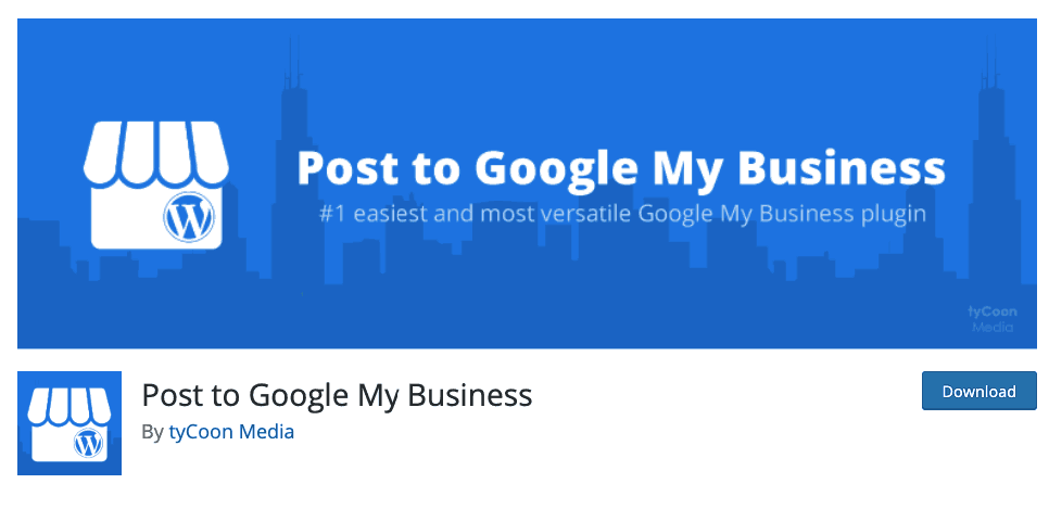 Post to Google My Business plugin