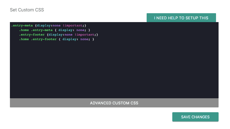 Set Custom CSS