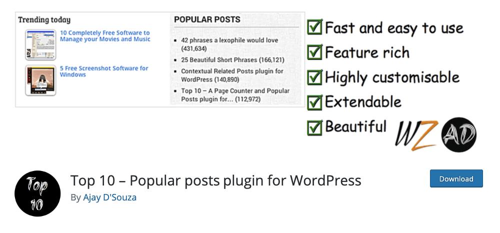 Top 10 plugin