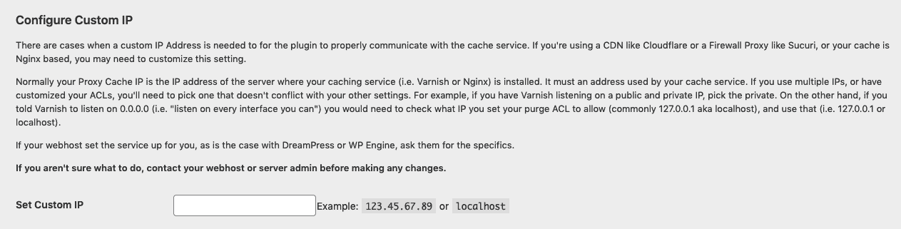 Configure Custom IP