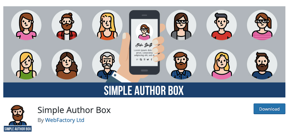 Simple Author Box free