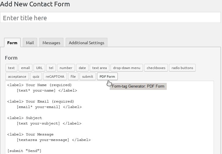 PDF form button