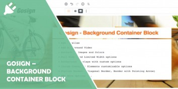 Gosign – Background Container Block