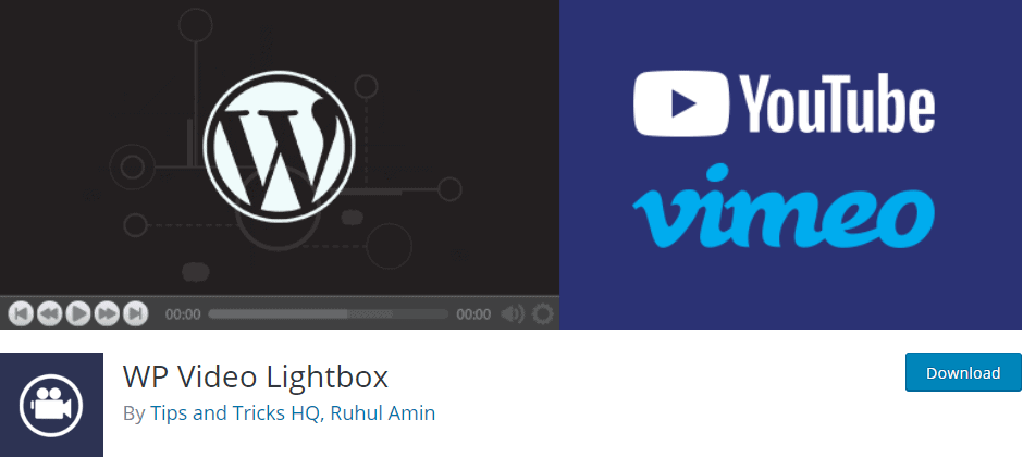 Wp Video Lightbox plugin banner